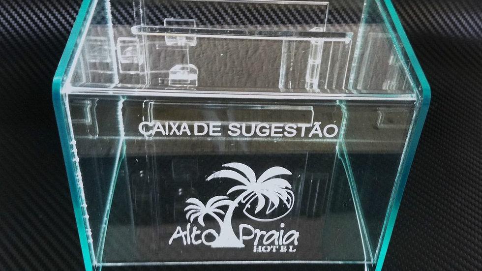 caixa de acrilico transparente (somente para consulta e informação)