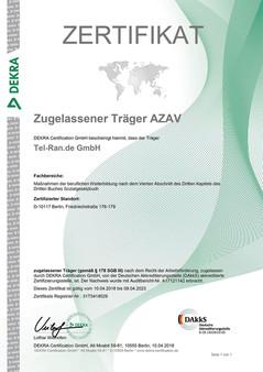 Tel-Ran images Tel-Ran images 100% 10  Сертификат аттестации AZAV Träger для международного учебного центра Tel-Ran Поддержка программы чтения с экрана включена.        Сертификат аттестации AZAV Träger для международного учебного центра Tel-Ran