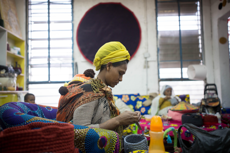 studio african refugee mother