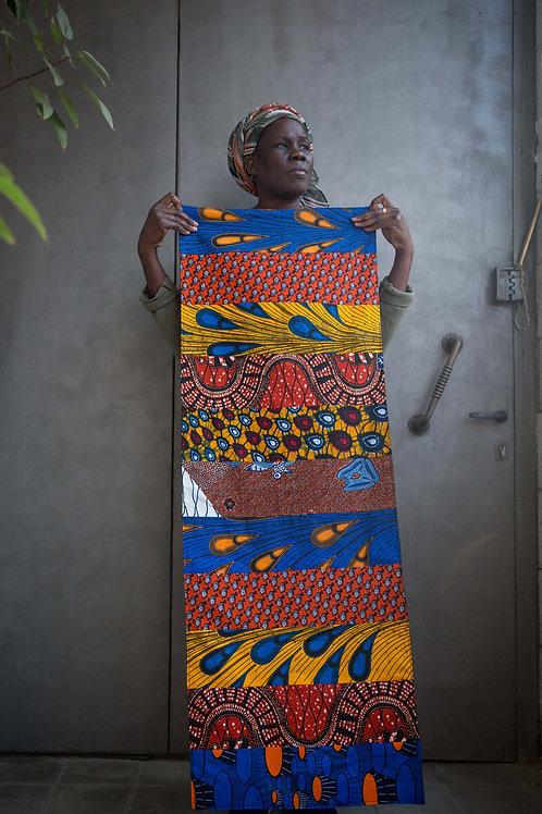 ראנר לשולחן מעורב אפריקאי