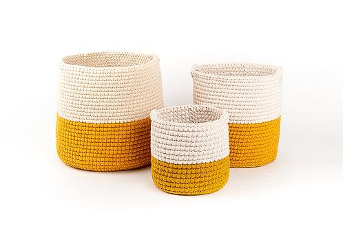 Crochet Medium Eden Basket Half & Half
