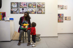 Refugee mother and child exhibition