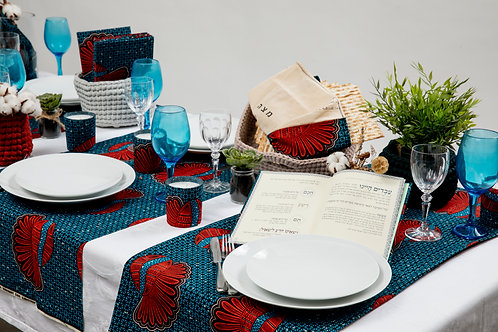 African Table Runner - Floral Collection