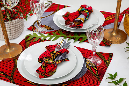 African Placemat - Floral Collection