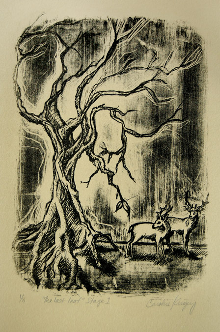 """""""The Last Leaf"""" - Lithograph"""