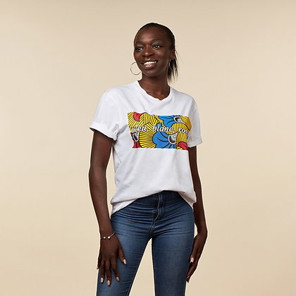 "T-shirt ""Bleu, blanc, rouge"" - coton bio"