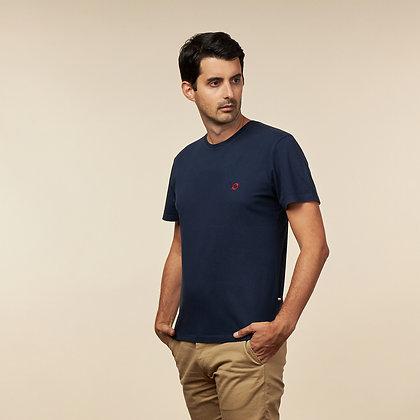 T-shirt navy logo brodé - coton bio