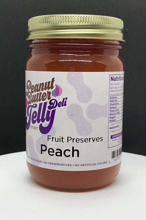 Peach Jam 16 oz Jar