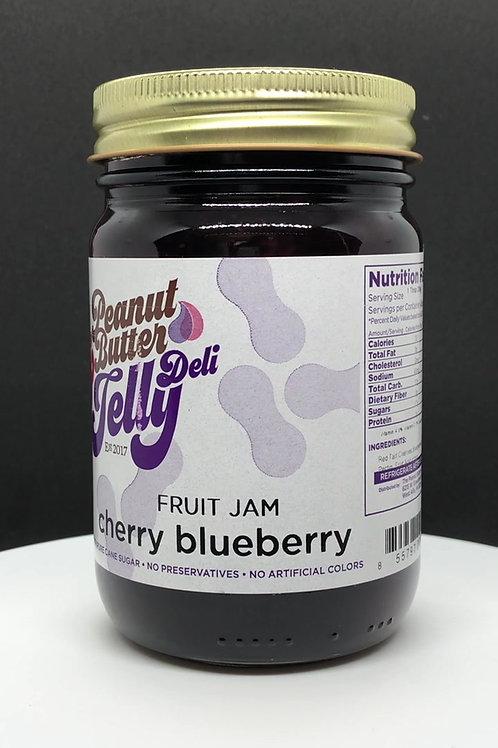Cherry Blueberry Jam 16 oz Jar