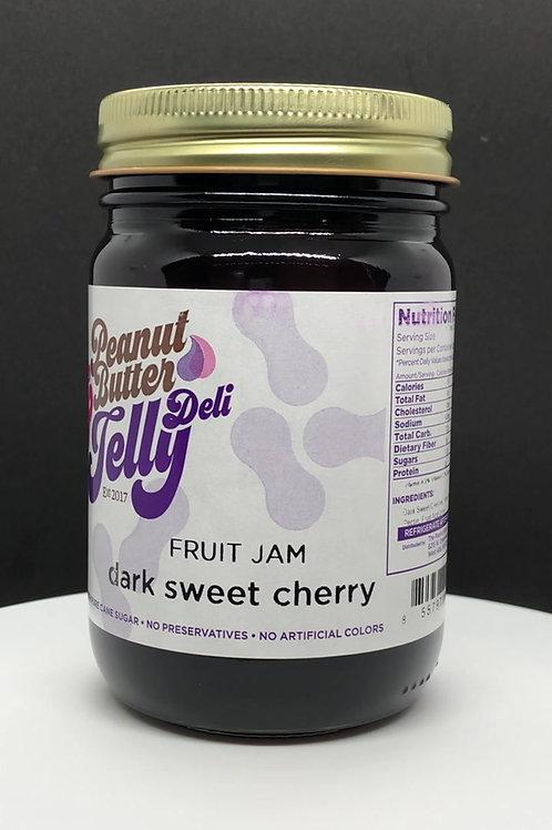 Dark Sweet Cherry Jam 16 oz Jar