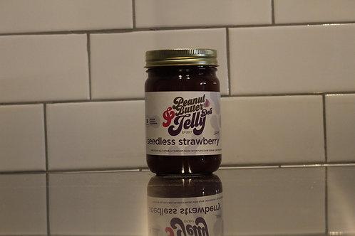 Seedless Strawberry Jam 16 oz Jar