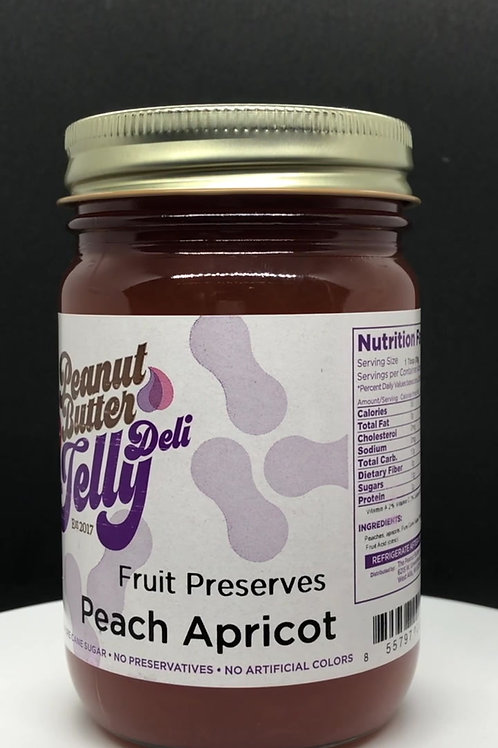 Peach Apricot Jam 16 oz Jar