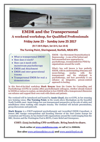 Exciting Times-EMDR and TRANSPERSONAL weekend