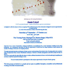 Annie Lloyd - Flier for first CPD day