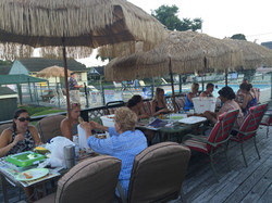 Family Dinner on the Patio