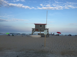 Lifeguard stand on the beach
