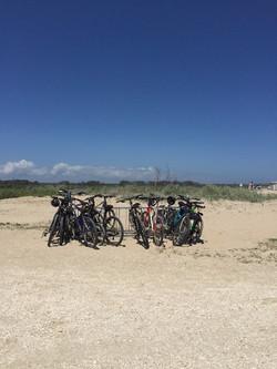 Biking to the beach