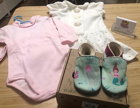 Lotto stock 3 Abbigliamento bambina Tg. 1 anno / 12 mesi