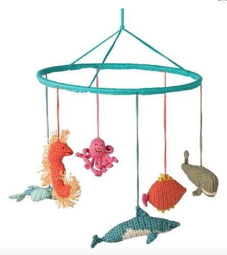 DECORAZIONE PENDENTE turchese animali marini - Babylonia