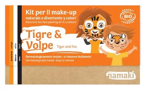 TRUCCHI GIOCO KIT 3 COLORI TIGRE E VOLPE - Namaki