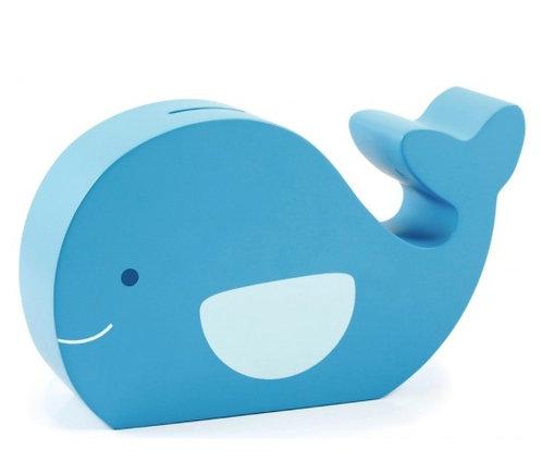 Salvadanaio in legno Balena azzurra - Pearhead