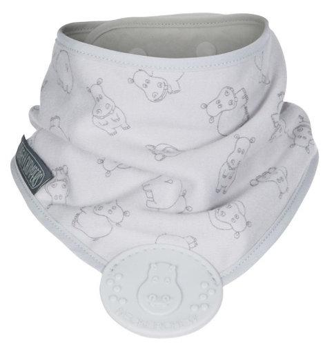 Bavaglino bandana per la dentizione Grey Hippo - Cheeky Chompers