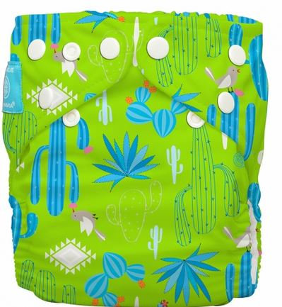 PANNOLINO LAVABILE CHARLIE BANANA 2 inserti Cactus Verde ORGANICO - Charlie & Banana