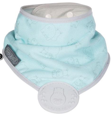 Bavaglino bandana per la dentizione Acqua Hippo - Cheeky Chompers