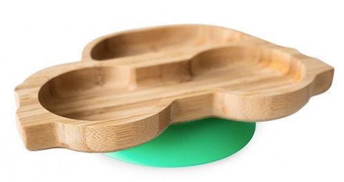 Piatto in bambù macchina verde - Eco Rascals