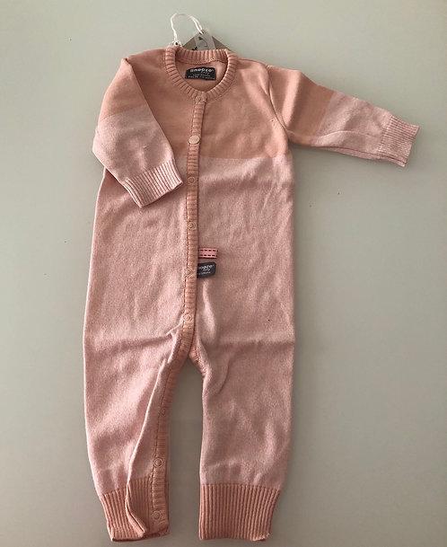 Tutina rosa a maniche lunghe in cotone organico - Snooze