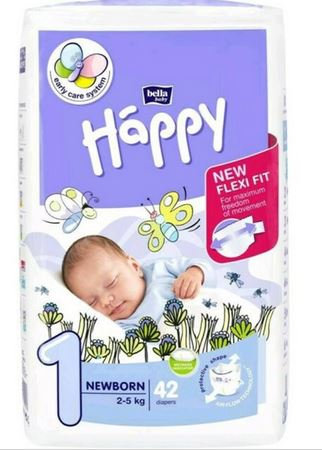 TG.1 PANNOLINI HAPPY NEWBORN 42 PZ - NATURAL WOOL