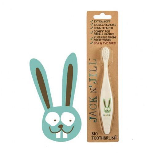 Spazzolino denti Coniglio per bambini Biologico - Jack N'Jill