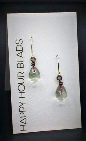 Tonic Bottle Raindrop Earrings