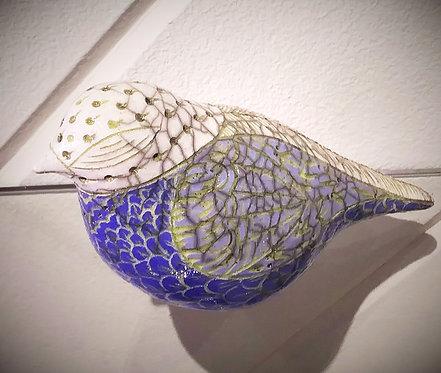 Raku Scrofittlo Bird -Dusty Blue