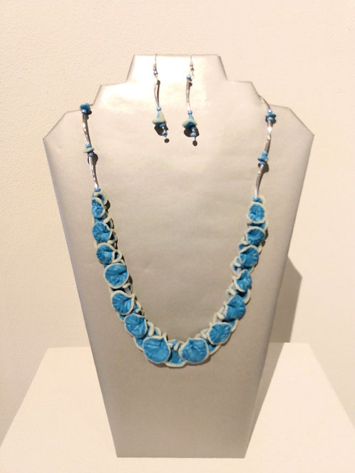 Jewelry Set Blue Floral
