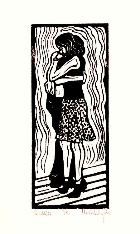 The Waltz 8/36-Linocut