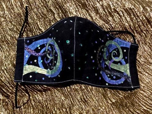 Mask-#23 Blue/Gold/Purple