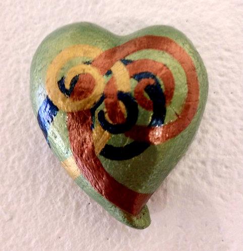 Moss Green Heart