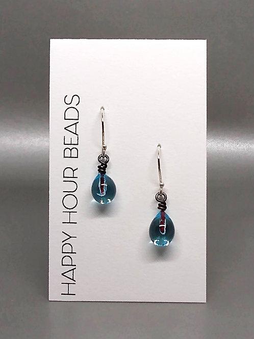 Aqua Raindrop Earring