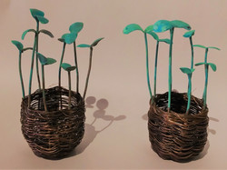 Patinated Sprouts Basket