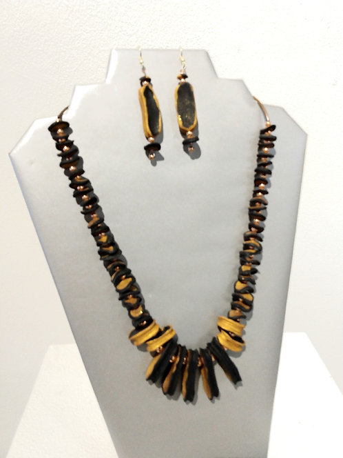 Jewelry Set Black and Gold