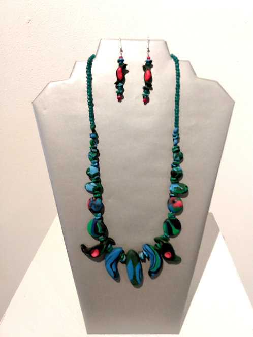 Jewelry Set Blue/Red/Turquoise