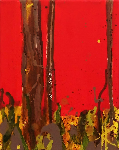 Trees on Red I