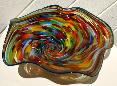 Red Multi Swirl Bowl