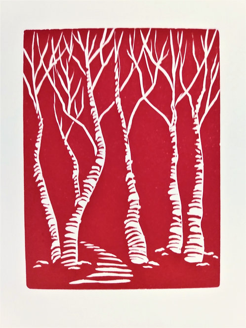 Trees Cards-Pack of 4