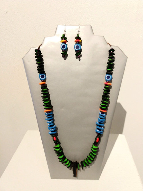 Jewelry Set Stacked Disc Beads