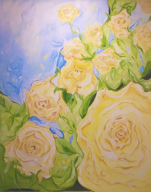 Yellow Rose Cascade