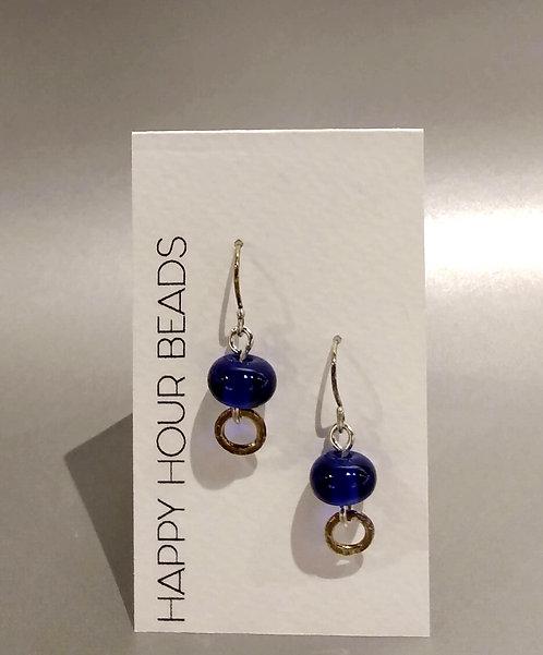Cobalt Champagne Earring