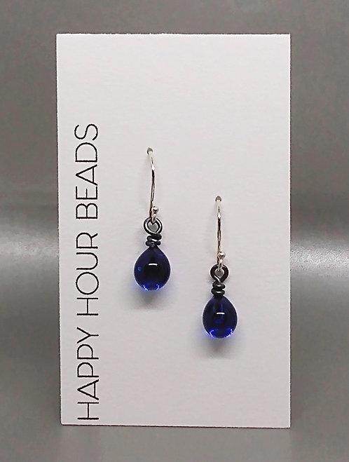 Cobalt Raindrop Earrings