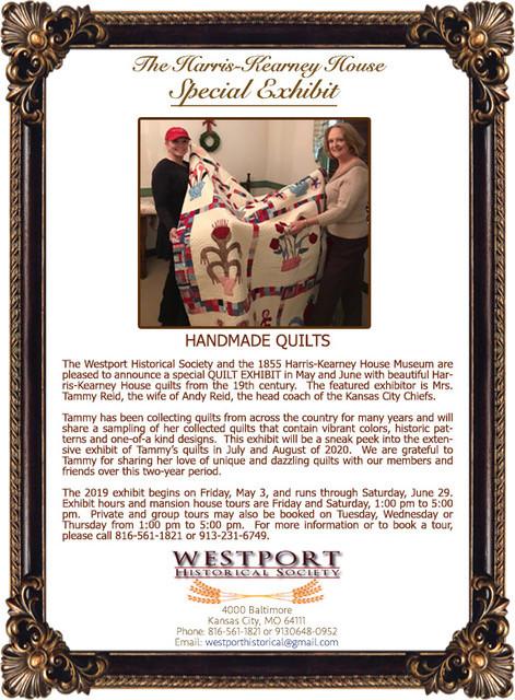 Harris House Quilt Exhibit KCMO Westport